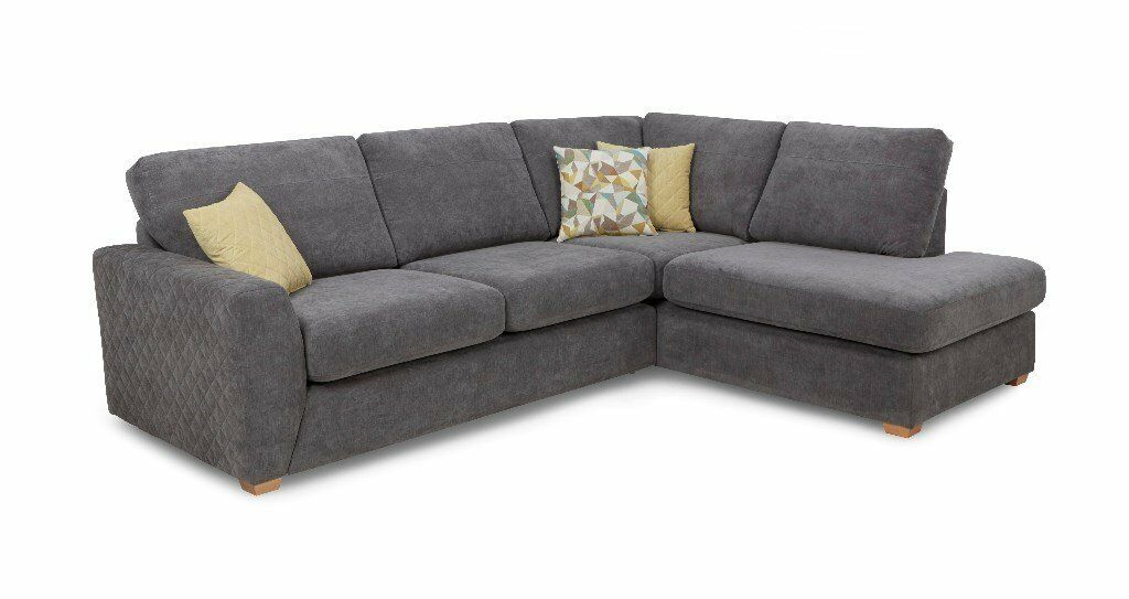 Dfs Eleanor Astaire Left Hand Corner Sofa In Grey