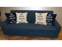 Navy Blue Denim Sofabed