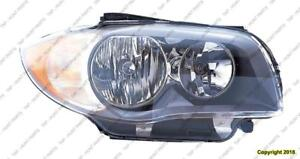 Head Lamp Passenger Side Halogen [Coupe 2008-2011] [Convertible From 2008- March 2011] High Quality BMW 1-Series