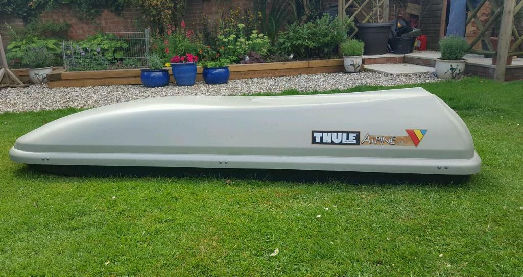 thule alpine 500 roofbox good condition in worcester. Black Bedroom Furniture Sets. Home Design Ideas