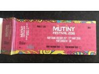MUTINY FESTIVAL 2018 WEEKEND TICKETS ONLY £70 EACH