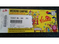 V festival, weekend with camping, weston park