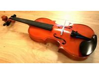 Student 3/4 Size Violin Outfit with Bow, Case & Rosin Excellent Condition