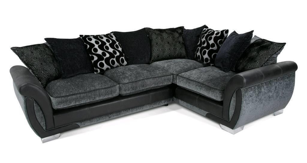 DFS Corner Sofa Black/Grey