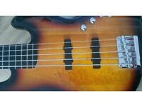 Bass guitar squier jazz deluxe vs 5 string