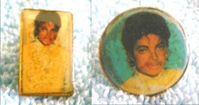 Michael Jackson Lapel Pins - lot of 2