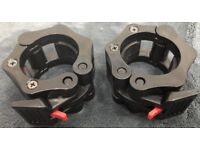 """2"""" Olympic Barbell Collar/Clamp set - Black - Brand New"""