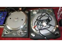PRO MIXER AND PAIR OF MIXING DECKS (DIRECT DRIVE) - COMPLETE PACKAGE