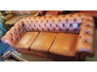 LEATHER CHESTERFIELD SOFAS,SETTEES,WINGBACKS,CLUB CHAIRS WANTED ANY CONDITION