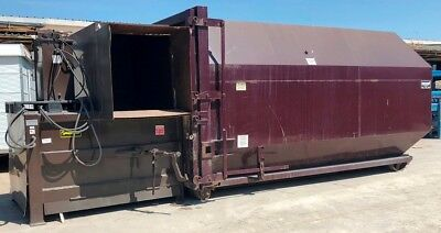 Neland Stationary Waste Compactor W 30 Yard Container Model Nc-200