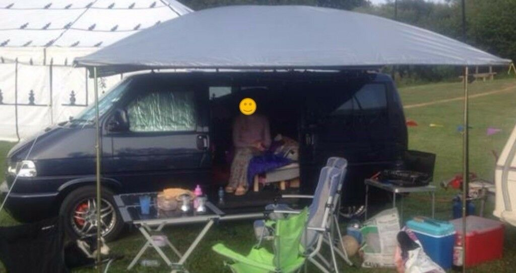 Silver  domed  C&er van sun canopy awning & Silver
