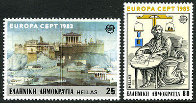 Greece 1459-1460, MNH. Acropolis, Archimedes and his Hydrostatic Principle, 1983
