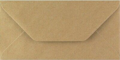 DL Kraft Envelopes 110mm x 220mm Brown Recycled Fleck Pack of 50 by Cranberry