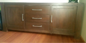 Solid timber entertainment cabinet/unit Fairfield Fairfield Area Preview
