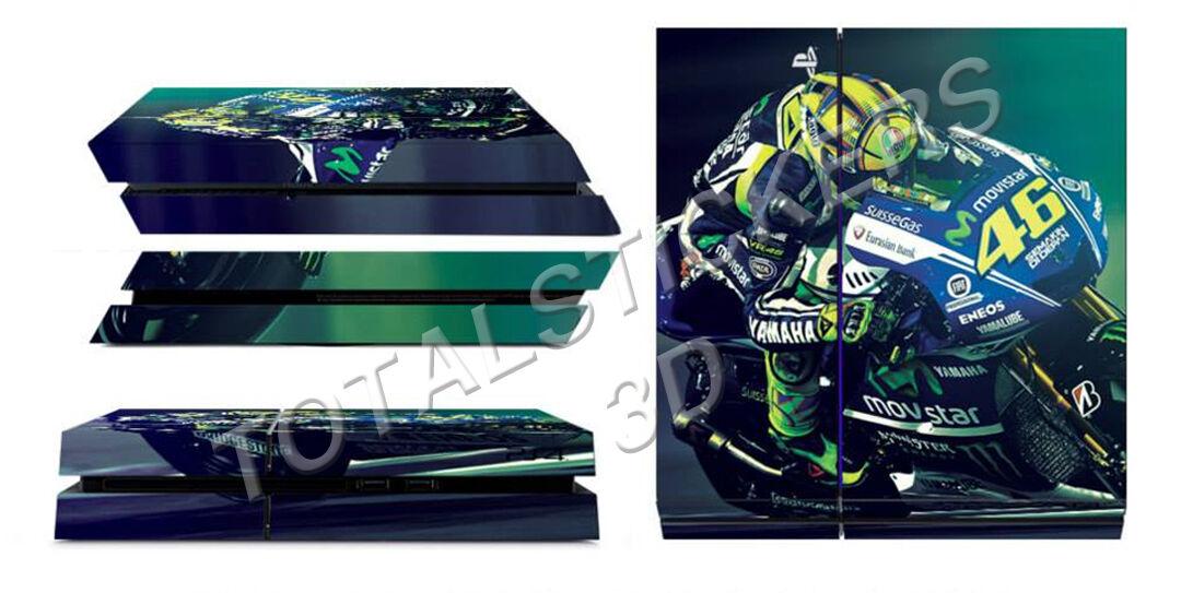 Skin PS4 Valentino Rossi Moto GP Blue Style Console Sticker Adesivo SK