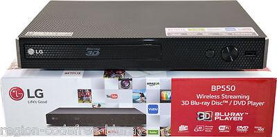 LG 550 Multi Region Code Free All Zone ABC Blu Ray DVD Player Wi-Fi - 3D -