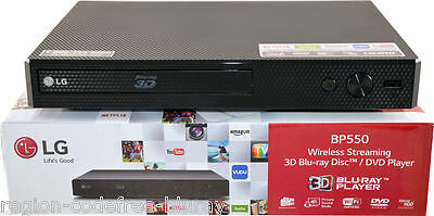 LG BP550 2D/3D All Region Free Blu-Ray DVD Player Multi Zone