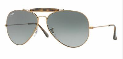 Ray-Ban Damen Herren Sonnenbrille RB3029 197/71 OUTDOORSMAN II 62mm gold S C8 H