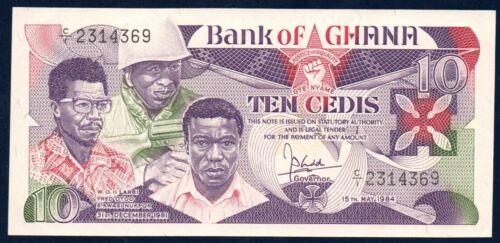 Ghana UNC Note 10 Cedi 1984 P-23
