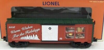 ✅LIONEL CHRISTMAS 2008 BOX CAR 6-25061! FOR O GAUGE TRAIN SET HAPPY HOLIDAYS