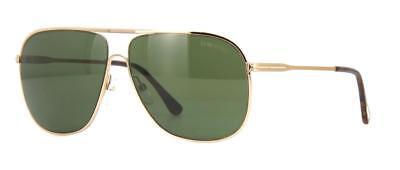 82c9f4d92c Tom Ford 0451 28N Dominic Shiny Rose Gold Aviator Sunglasses Green Lens
