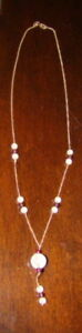 Beautiful Crystal and Garnet Necklace