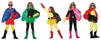 Child Super Hero Costume Cape Boys Girls Halloween Villain Magician Phantom O/S