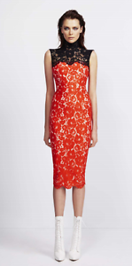 ALEX PERRY 'AMIA' BLACK AND RED LACE DRESS ONLY WORN ONCE SIZE 12 Illawong Sutherland Area Preview