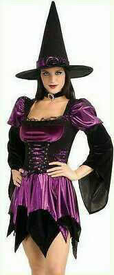 Sexy Witch Velvet Lace Corset Purple Shiny Adult Costume Small Medium  - Corset Witch Costume