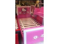Bargain hello kitty leather single bed £50