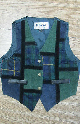 Childs Vest Medium  Theatrical Costume Annie Wizard of Oz Oliver Newsies  - Kids Wizard Of Oz Costume