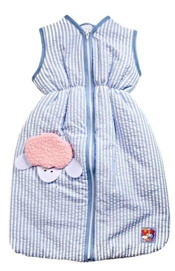 Heless Puppenzubehör, Puppenkleidung, Schlafsack blau, für 35 - 45 cm Puppen