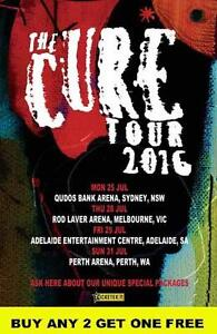 THE CURE 2016 Australian Laminated Tour Poster