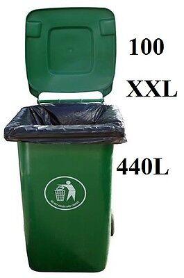 100 Wheelie Bin Refuse Liners Sacks Garden Waste Rubbish Supplies Bags