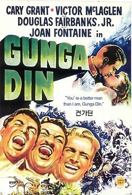 Gunga Din (1939) DVD - Cary Grant (NEW) / NO CASE (Only Cover & Disc)