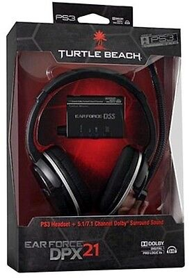 Turtle Beach EarForce DPX21 Ear Force Headphones for PS3 & Xbox 360 NEW