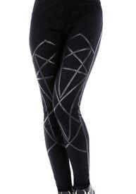Restyle Pentagram Leggings - Large - NEW - Geometry/Occult Black