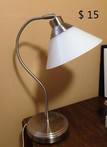 Moving Sale: Table lamp, floor lamp, Heater