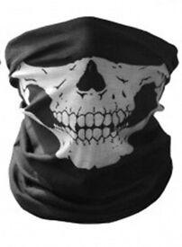 I have excess stock 30 X Skull Skeleton Mask Biker Scarf Face Snood Bandana Paintball BMX