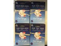 20 x FREE BRAND NEW O2 SIM CARDS