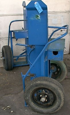 Large Weldingfire Supression Compressed Gas Tank Cart