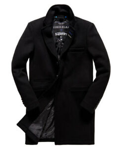 Superdry Idris Leading London Coat Trench Jacket Winter