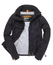 Black Superdry Jacket size small