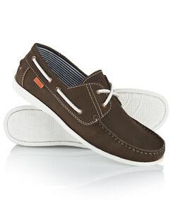 Superdry-Hombre-Zapatos-Boat-Marron