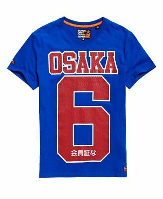 Superdry Osaka Series Osaka Podium Tee T-Shirt Blue Size XL BNWT Cotton