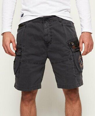 Superdry Mens Cargo Shorts S.Dry Logo Superdry Army Core Lite Parachute Shorts