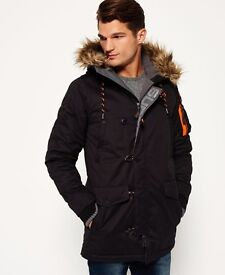 MENS SUPERDRY PARKA COAT. IMMACULATE CONDITION. WORN ONLY ONCE