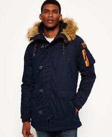 Super dry men's medium coat