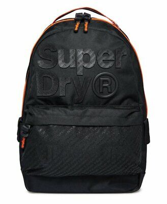 Superdry M91005MT/02A Mens Black B Boy Montana Polyester Carry Bag Backpacks