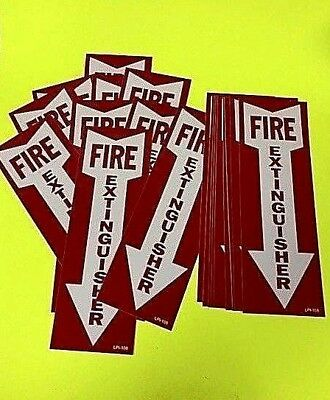 Fire Extinguisher Arrow Sign Self-adhesive Vinyl  4 X 12 -lot Of 20